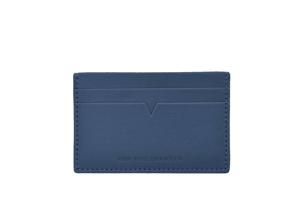 The Credit Card Holder in Technik-Leather in Denim