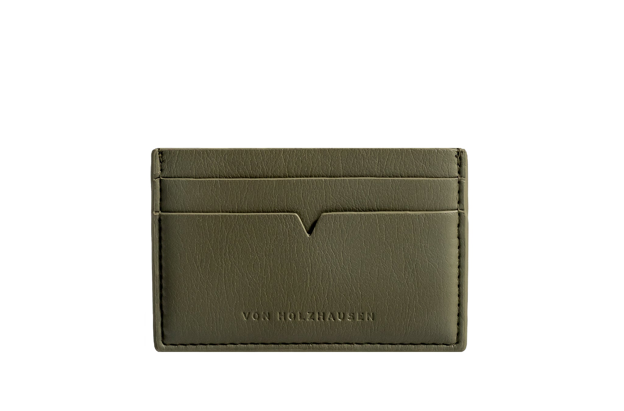 The Credit Card Holder in Technik-Leather in Moss
