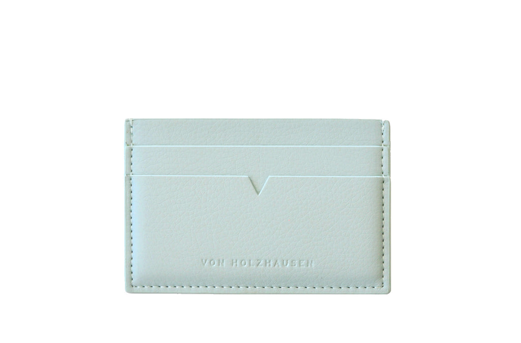 The Credit Card Holder in Technik-Leather in Sea
