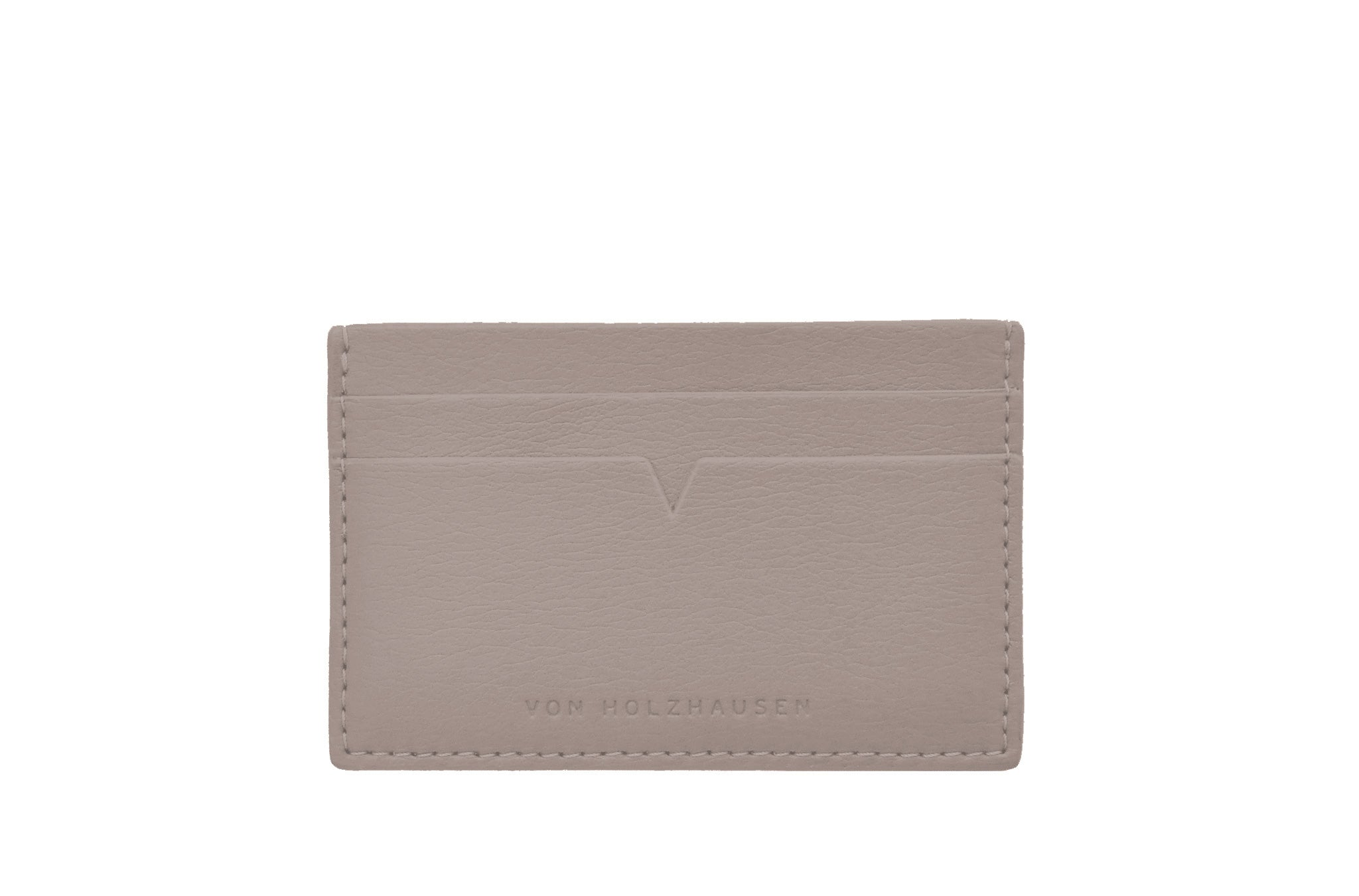 The Credit Card Holder in Technik-Leather in Stone