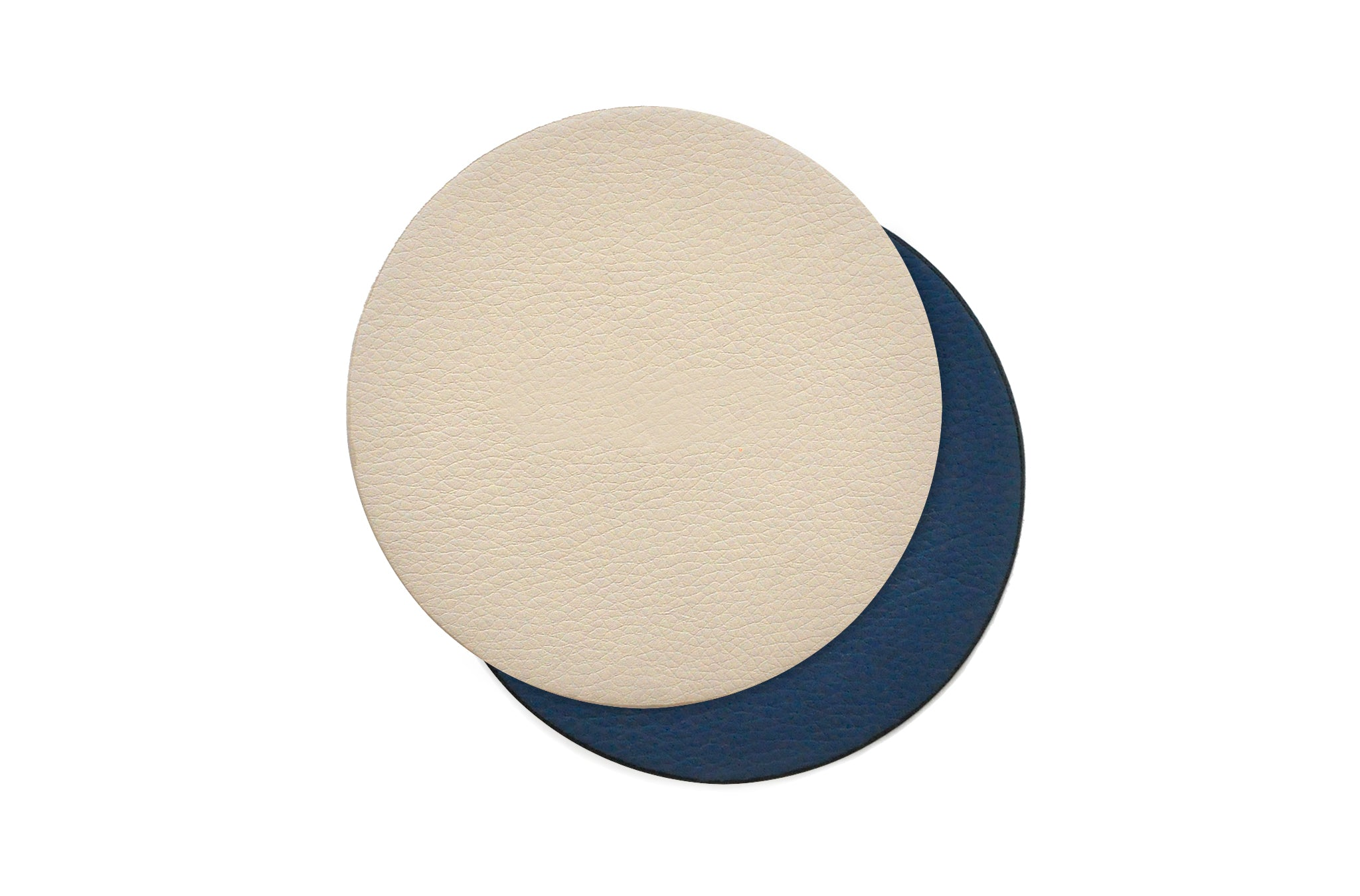 The Coasters in Technik-Leather in Denim & Oat