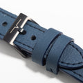 The 20mm Watch Band in Technik-Leather in Denim