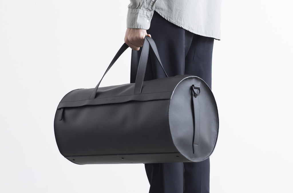 The Duffel in Technik-Leather in Black