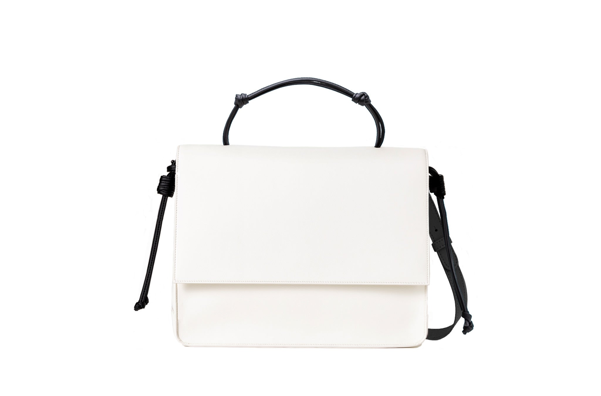 The Handheld in Technik-Leather in White and Black