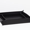The Small Tray in Technik-Leather in Black
