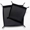 The Large Tray in Technik-Leather in Black
