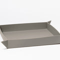 The Large Tray in Technik-Leather in Stone