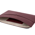 The MacBook Sleeve 13-inch in Technik-Leather in Burgundy
