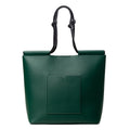 The Market Tote in Technik-Leather in Forest Green and Black