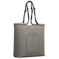 The Market Tote in Technik-Leather in Stone and Black