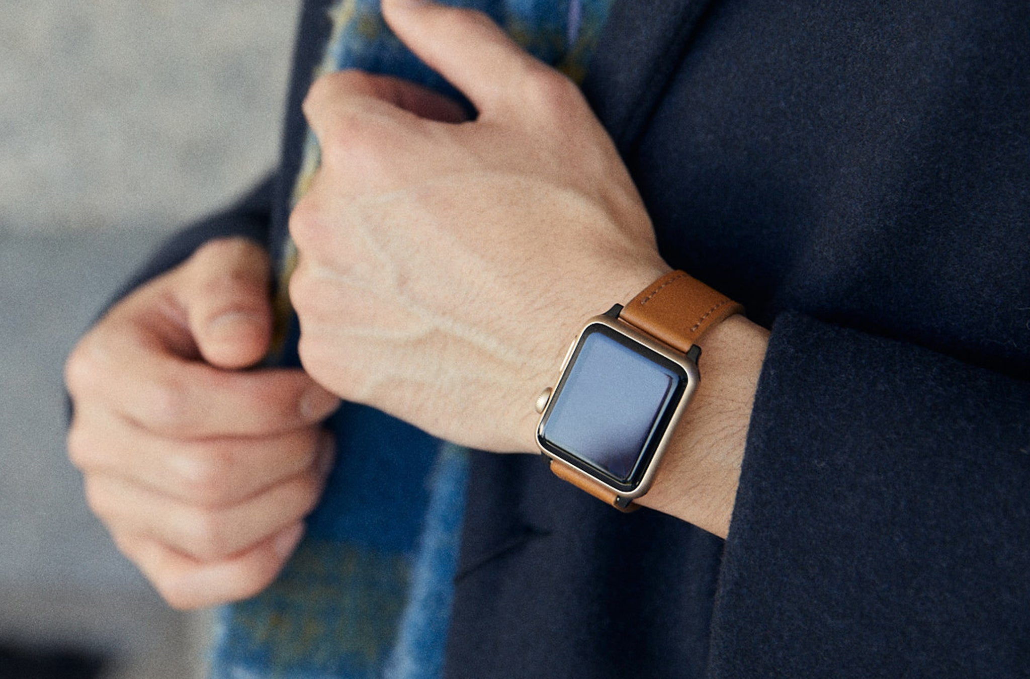 The 24mm Watch Band in Technik-Leather 2.0 in Caramel