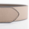 The Men's Belt in Technik-Leather in Stone