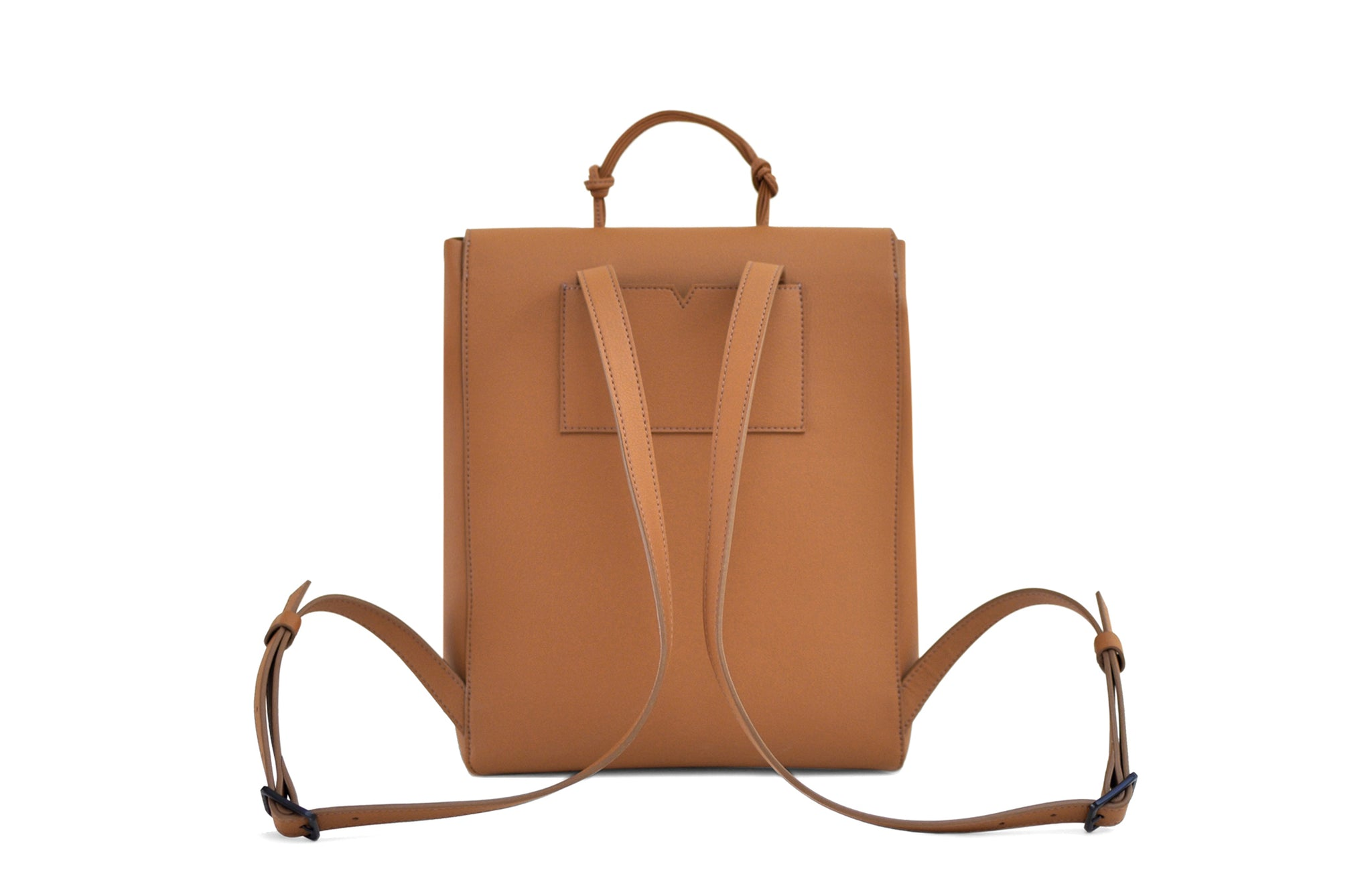 The Mini Backpack in Technik-Leather in Caramel