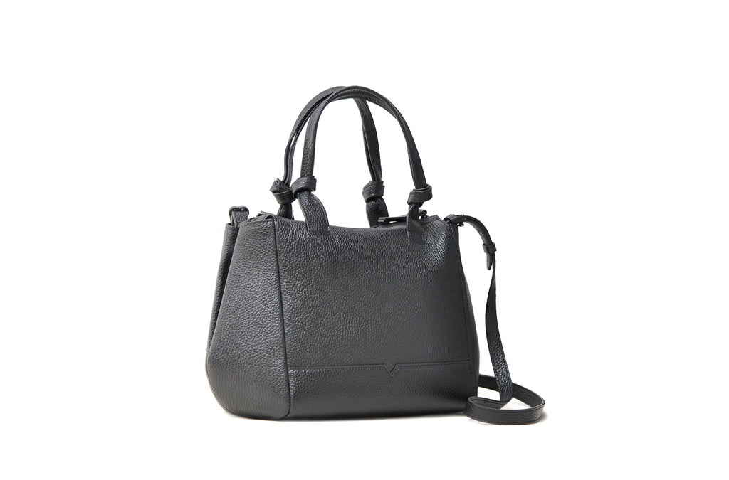 The Mini Duffel Crossbody in Black
