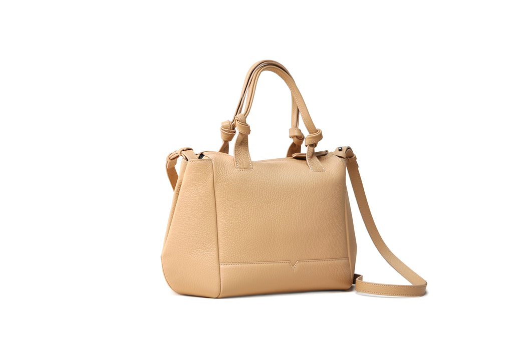 The Mini Duffel Crossbody in Sand