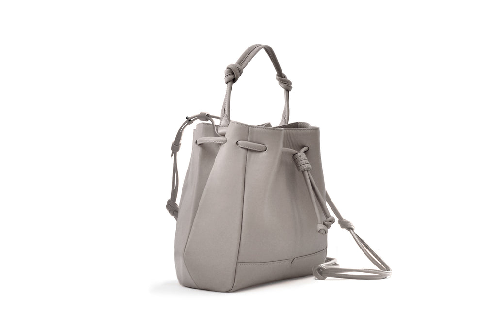 The Bucket Crossbody in Technik-Leather in Stone