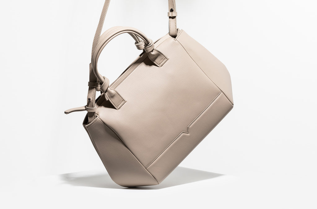 The Mini Duffel Crossbody in Technik-Leather in Stone