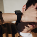 The 24mm Watch Band in Technik-Leather 2.0 in Black