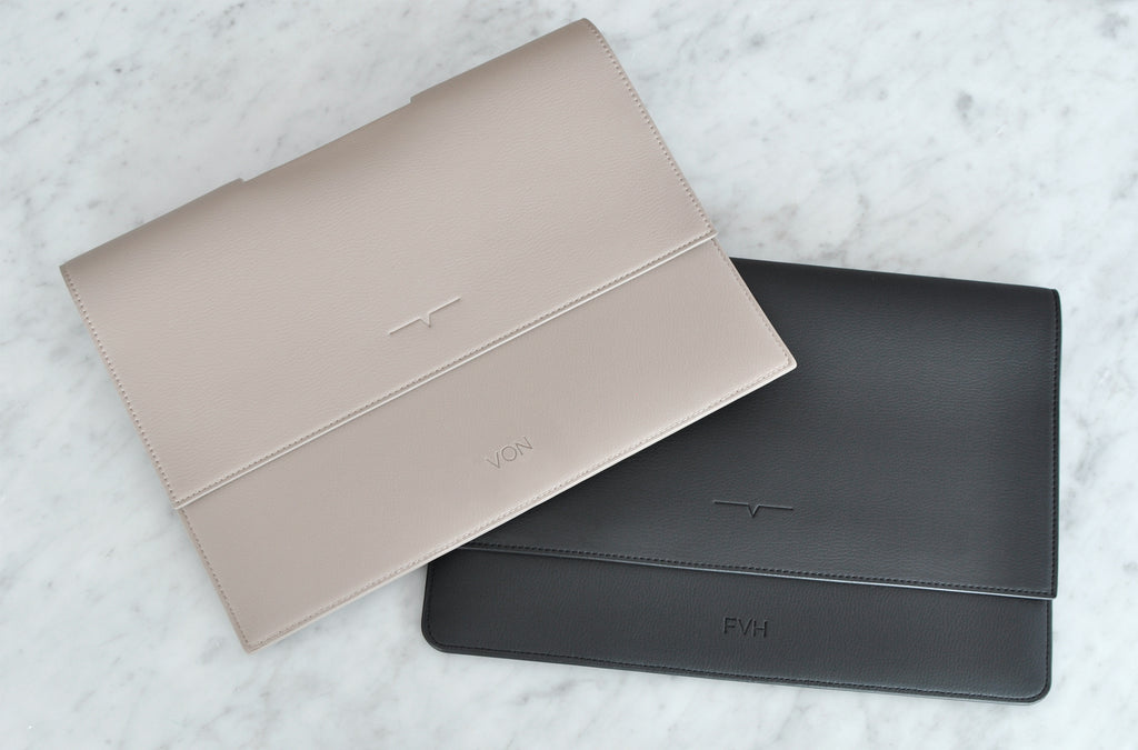 The iPad Portfolio 11-inch in Technik-Leather in Black