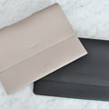The MacBook Portfolio 13-inch in Technik-Leather in Stone