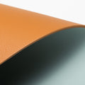 The Placemat in Technik-Leather in Caramel & Sea