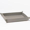 The Small Tray in Technik-Leather in Stone