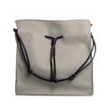 The Large Shopper in Technik-Leather in Stone and Black