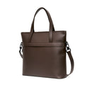 The Zipper Tote in Technik-Leather in Taupe