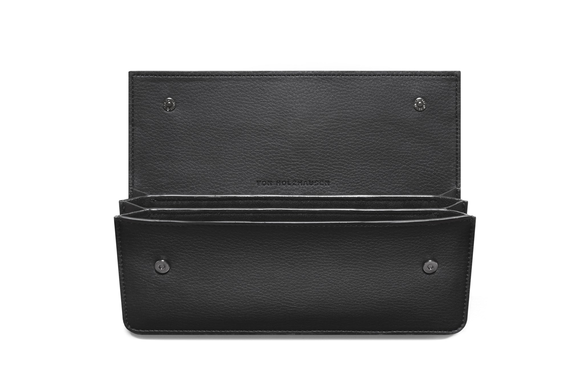 The Accordion Pouch in Technik-Leather in Black