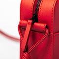 The Zipper Crossbody in Technik-Leather 2.0 in Cherry