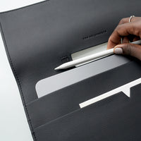 The iPad Portfolio 12.9-inch in Technik-Leather in Black