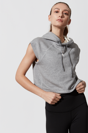 Open image in slideshow, PACE CROPPED HOODIE - SMALL CROSS