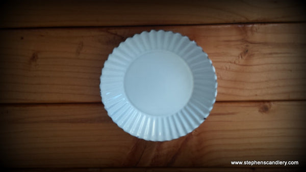 White Candle Plate Small