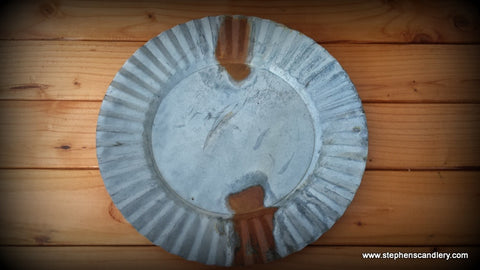 Galvanized Candle Plate XL