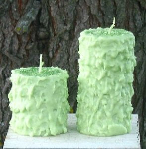 Lime Cooler Hand Caked Pillar Candle™