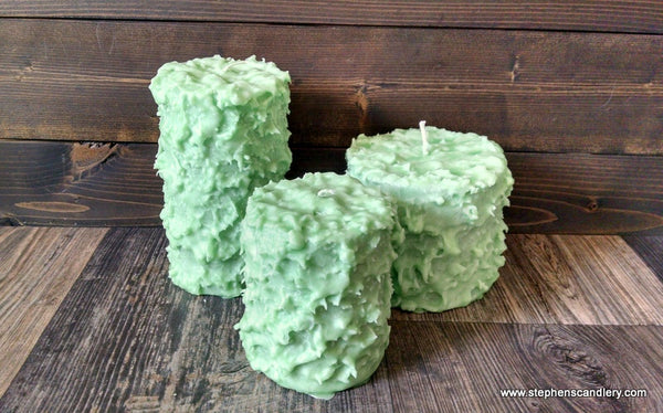 Green Apple Hand Caked Pillar Candle™