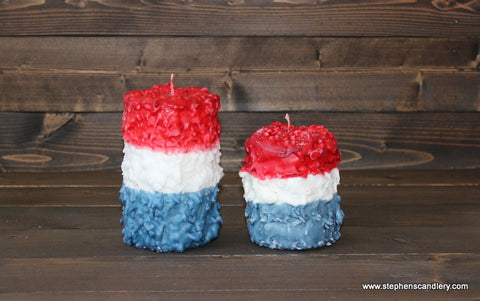 Americana Hand Caked Pillar Candle™