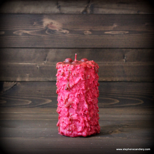 Cherries Jubilee Hand Caked Pillar Candle™