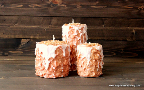 Pumpkin Cheesecake Hand Caked Pillar Candle