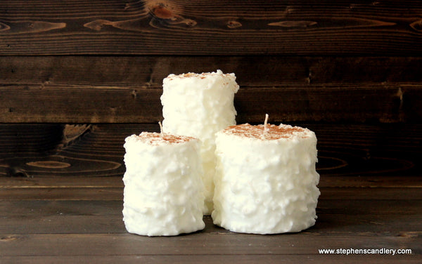 Snickerdoodle Hand Caked Pillar Candle