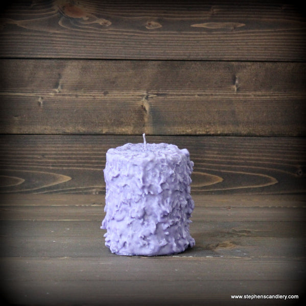 Lavender Fields Hand Caked Pillar Candle