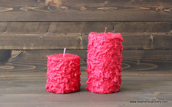 Juicy Pomegranate Hand Caked Pillar Candle™
