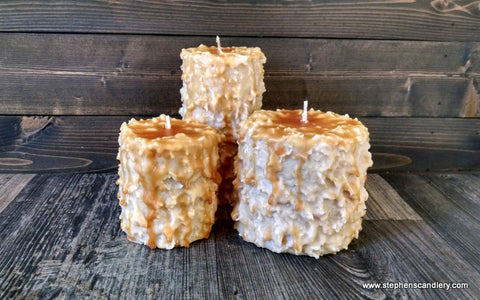 Pecan Pie Hand Caked Pillar Candle