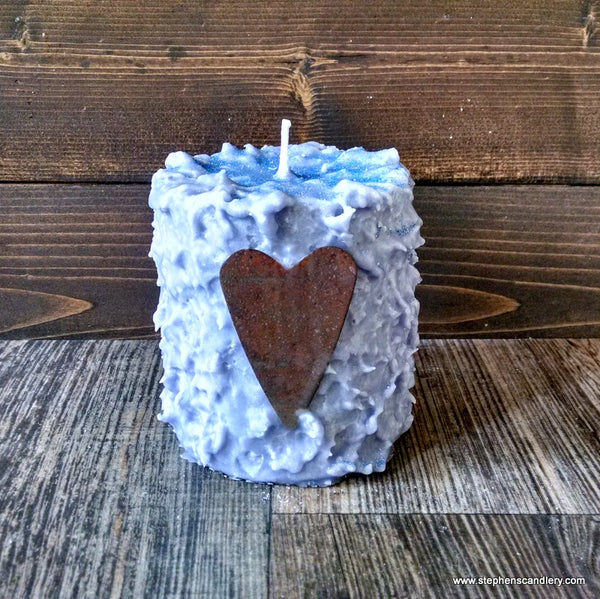Love Struck Hand Caked Pillar Candle™