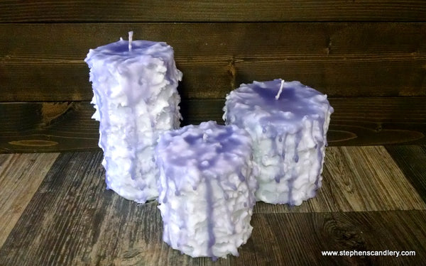 White Lilac Hand Caked Pillar Candle™