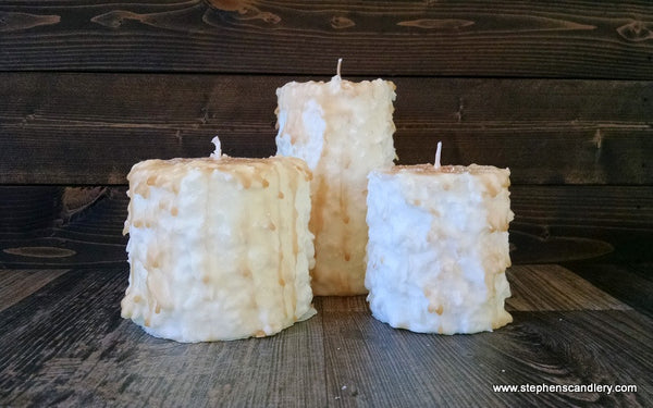 Sugar Cookie Hand Caked Pillar Candle