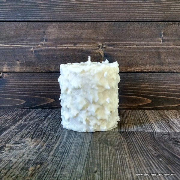 Wild Currant and Sandalwood Hand Caked Pillar Candle™