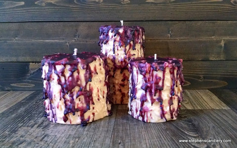 White Tea & Berries Hand Caked Pillar Candle™