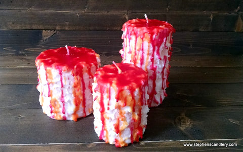 Sherbet Hand Caked Pillar Candle™