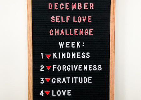 It's the Fred and Far December Self Love Challenge! Join in on the fun!